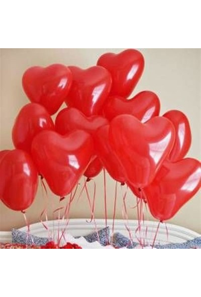 KBK Market 25 Adet Kalpli Kırmızı Lateks Balon