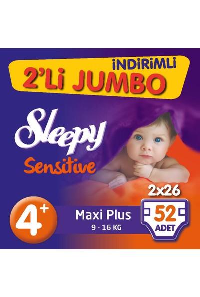 Sleepy Bebek Bezi İkili Jumbo 4 + Beden 52 adet