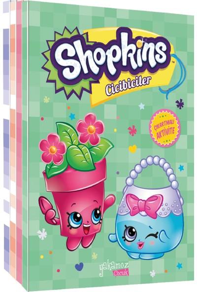 Shopkins Cicibiciler Lisanslı Çıkartmalı Aktivite Kitapları (5 Kitap Takım)