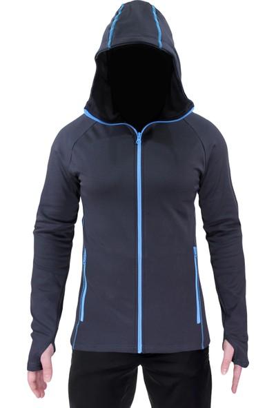 Sivugin Outdoor Kapşonlu Sweatshirt Erkek - Gri