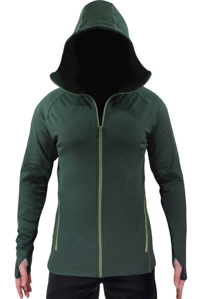 Sivugin Outdoor Kapşonlu Sweatshirt Erkek - Haki