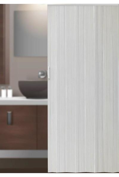 Decotex İnce Akordiyon Kapı Dişbudak Beyaz 74x203 PVC Katlanır Kapı 0,6mm Kalınlıkta
