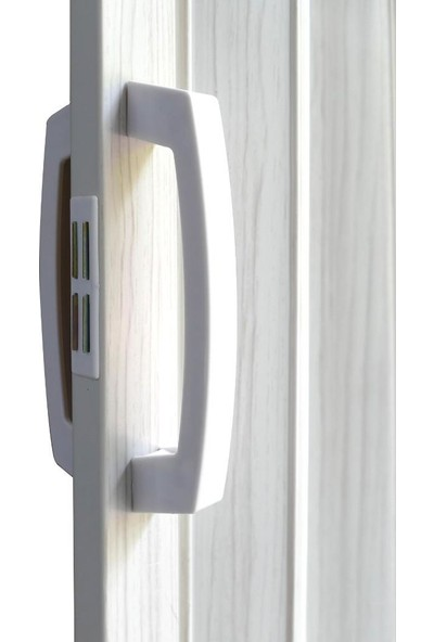 Decotex Akordiyon Kapı Dişbudak Beyaz 135x203 Geniş PVC Katlanır Kapı