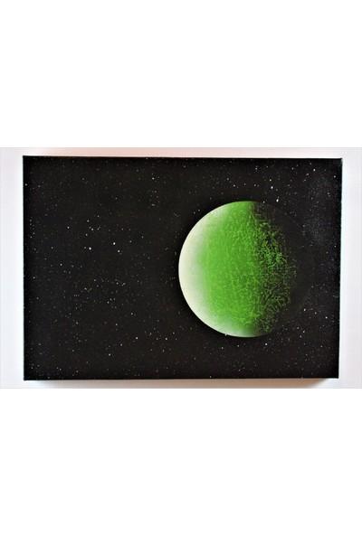 Can Pulat Akrilik Boya Uzay Temalı Kanvas Tablo