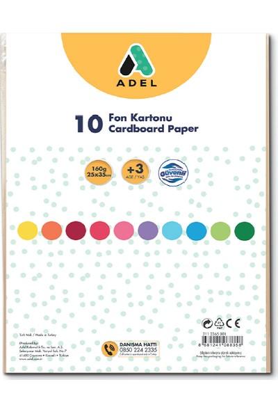 Adel Fon Kartonu 25X35 Cm Karışık 10 Lu 4343030001