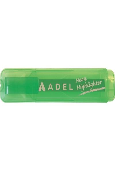 Adel Neon Fosforlu Kalem Yeşil Yl 2201000024 12 Li (1 Paket 12 Adet)