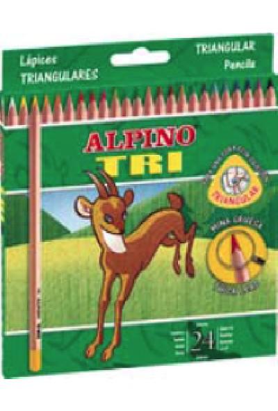 Alpino Tri 24 Renk Boya Kalemi Üçgen Kutu AL-129