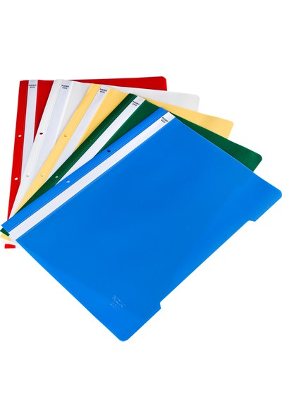 Bafix Telli Dosya Plastik A-4 Açık Mavi 50 Li (1 Paket 50 Adet)