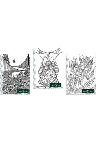 Faber-Castell Plastik Kapak Style Defter 80 Yaprak Çizgisiz Düz 5075000017000