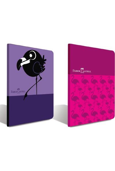Faber-Castell PP Kapak Look Dikişli Defter 60 Yaprak Karışık Renk A5 5075000157 12 Li (1 Paket 12 Adet)