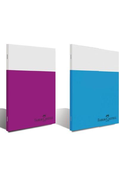 Faber-Castell PP Kapak Smart Dikişli Defter 60 Yaprak Çizgili A4 Karışık Renk 5075000165