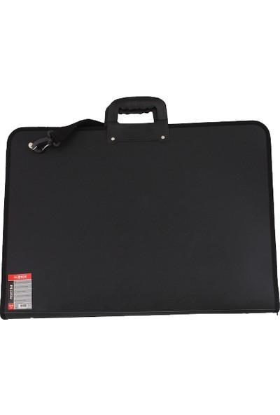 Globox 6682 Resim Çantası Fermuarlı 35X50 Cm Siyah