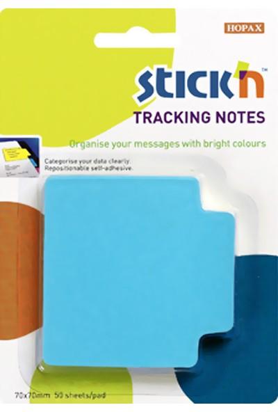Hopax Stickn Yapışkanlı Not Kağıdı 70X70 Mm Neon Mavi 50 Yaprak 4-2147900-5001