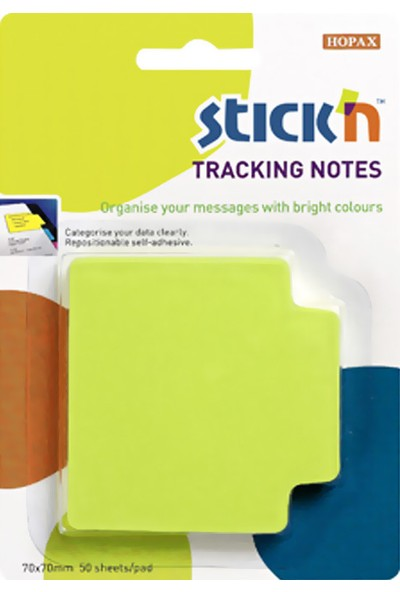 Hopax Stickn Yapışkanlı Not Kağıdı 70X70 Mm Neon Yeşil 50 Yaprak 4-2148000-5001