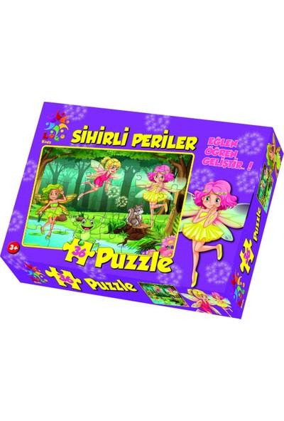 Laço Puzzle Eğlen Öğren Sihirli Periler 36 Parça Lc-005