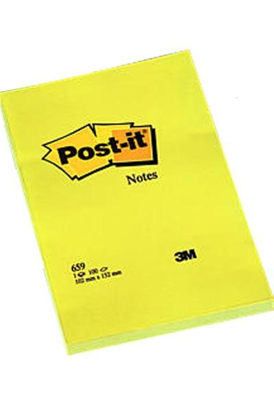 Post-İt 659 Yapışkanlı Not Kağıdı Sarı 102X152 Mm