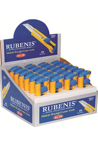 Rubenis Sx-59 Maket Bıçağı Sıkmalı Yedekli