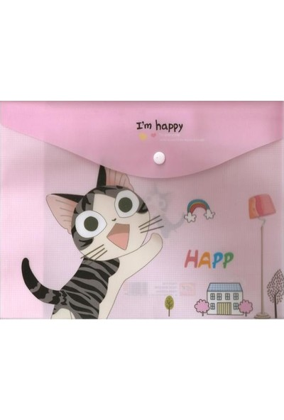 Taros Çıtçıtlı Dosya Kedili 12 Li (1 Paket 12 Adet)