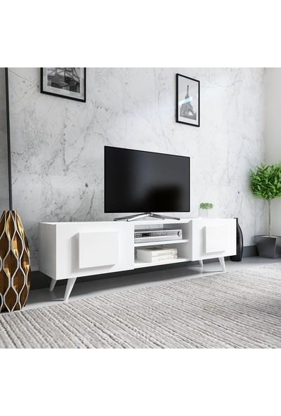Evmonte Crazy Tv Ünitesi Beyaz Beyaz 1062