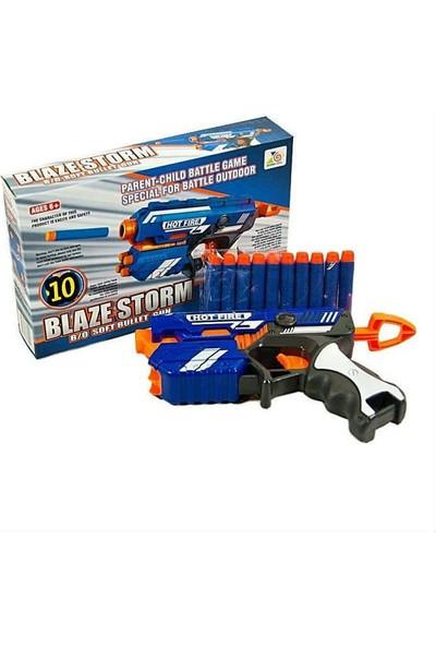 Blaze Storm 4 Hazneli Dart Atan Silah – 25 Yedek Dart – Ayarlanabilir Maske – Gözlük Seti