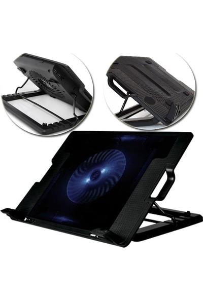 Flying Kademeli Notebook Laptop Soğutucu Mavi Led Işıklı 12 cm Fanlı Stand
