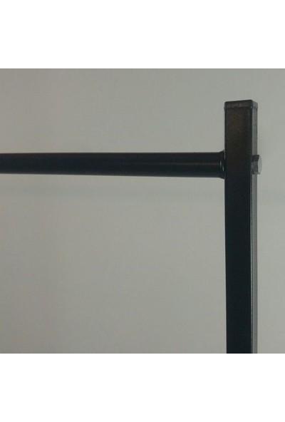 Lucia Konfeksiyon Elbise Askılığı Ayaklı Askılık Siyah K104