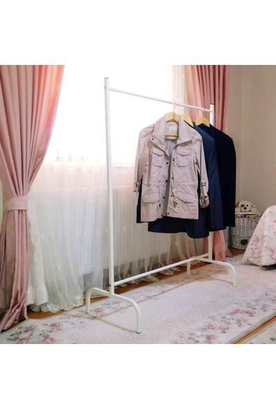 Lucia Konfeksiyon Elbise Askılığı Ayaklı Askılık Beyaz K105