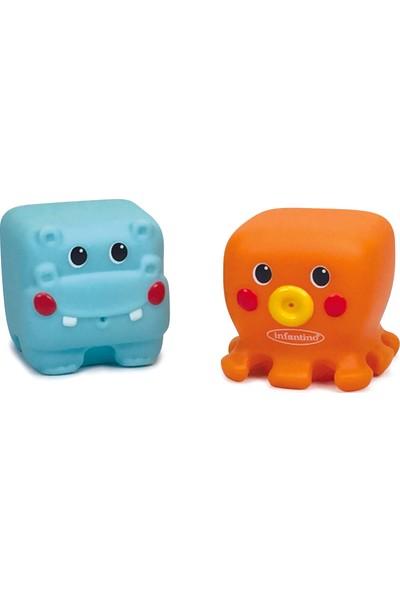 Infantino İkili Yumuşak Hayvancıklar Hippo ve Ahtapot Banyo Oyuncağı