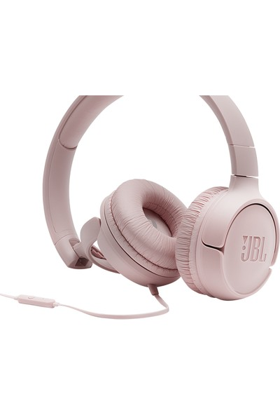 JBL T500 Mikrofonlu Kablolu Kulaküstü Pembe Kulaklık