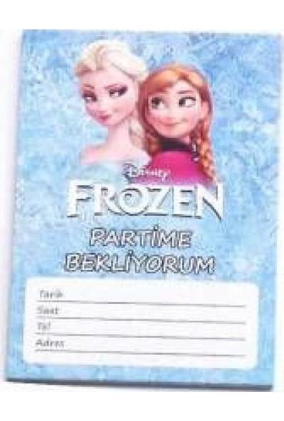 Parti Dolabı Elsa Anna Frozen Karlar Ülkesi 10Lu Doğum Günü Parti Davetiyesi