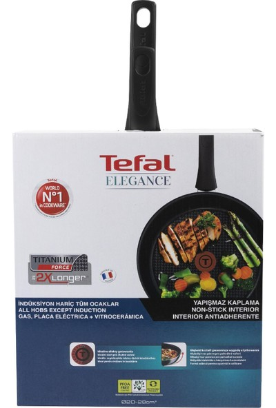Tefal Titanium Elegance 20 cm+ 28 cm Tava Seti