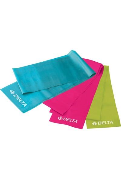 Delta Dura-Strong 3'lü Deluxe Pilates Bant Seti – DS 7330