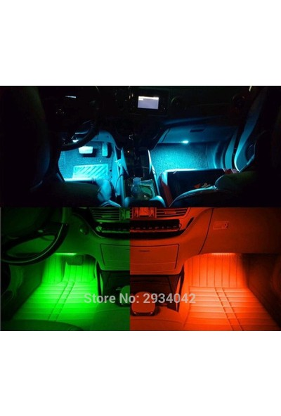 Boostzone Uzaktan Kumandalı Sese Duyarlı Araç İçi Silikon Neon Led Aydınlatma