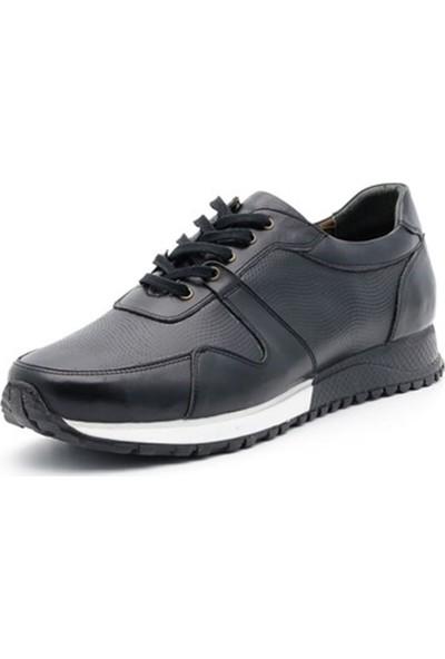 İriadam 45 46 47 48 49 50 Deri Büyük Numara Spor Ayakkabı 4329 Siyah Analin