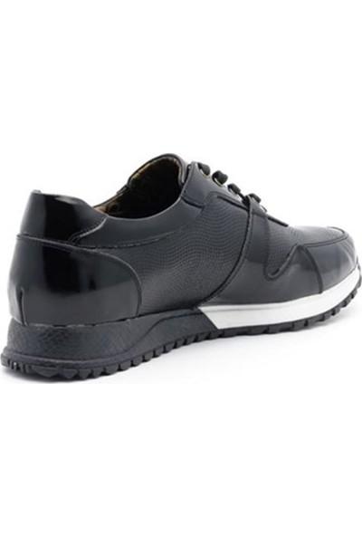 İriadam 45 46 47 48 49 50 Büyük Numara Spor Ayakkabı 4329 Siyah Rugan