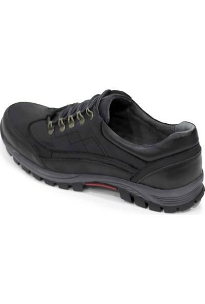 İriadam 4349-siyah Büyük Numara Trekking Ayakkabı