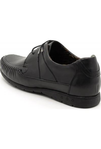 İriadam 4352 Siyah Büyük Numara Erkek Mevsimlik Ayakkabı