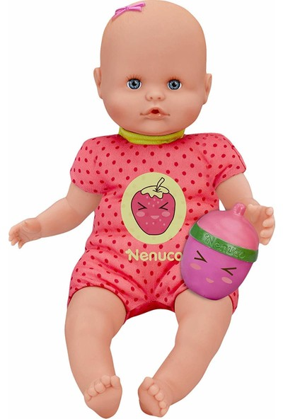 Nenuco Çıngıraklı Biberon Bebek Seti - Çilek