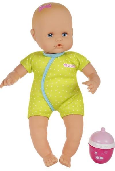 Nenuco Çıngıraklı Biberonlu Et Bebek - Yeşil