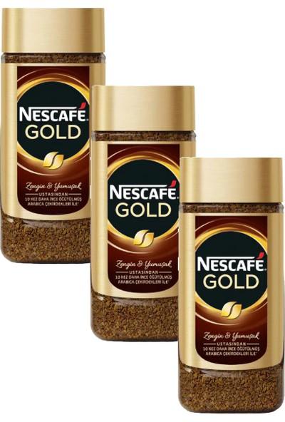 Nescafe Gold Kavanoz 200 gr 3'Lü Set