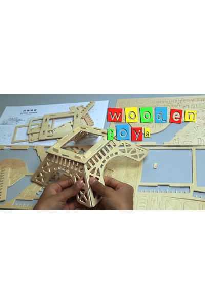 Pi İthalat 3D Ahşap Puzzle - Helikopter