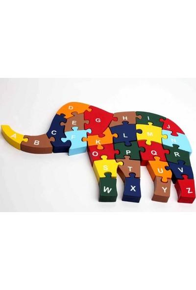 Pi İthalat Ahşap Puzzle Fil Figürlü Yapboz