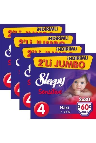 Sleepy Sensitive Bebek Bezi 4 Beden Maxi İkili Jumbo 240 Adet
