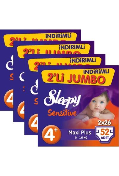 Sleepy Sensitive Bebek Bezi 4+ Beden Maxi Plus İkili Jumbo 208 Ad