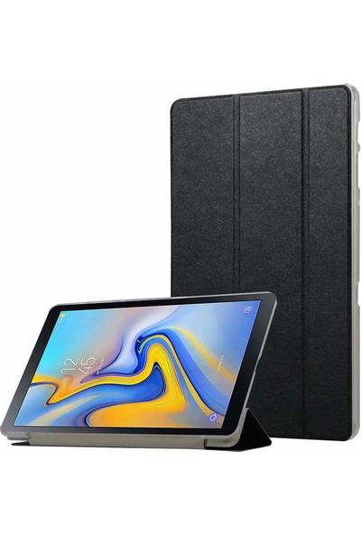 HappyShop Samsung Galaxy Tab A T580 Kılıf Arkası Şeffaf İnce Standlı Smart Cover