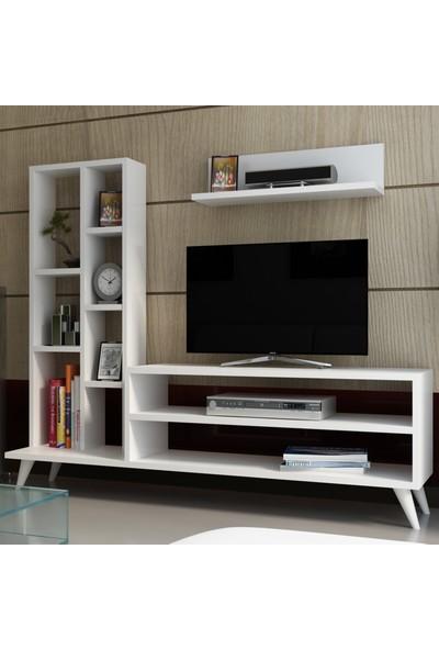 Evmonte - Nida Tv Ünitesi Beyaz