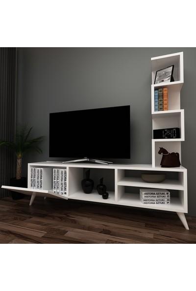 Evmonte - Edel Tv Ünitesi Beyaz