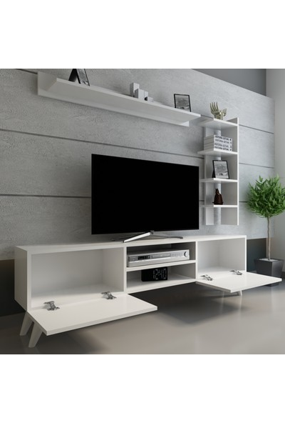 Evmonte - Çınar Tv Ünitesi Beyaz