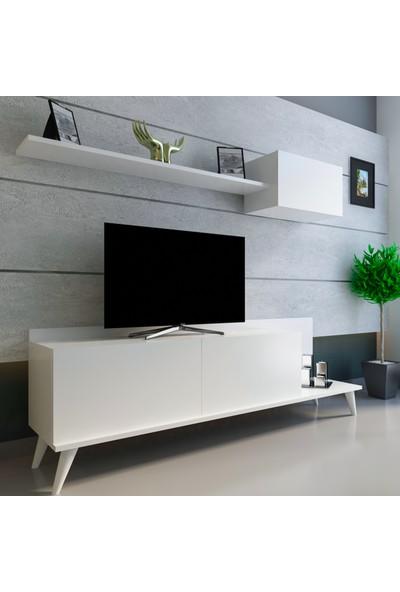 Evmonte - Bahar Tv Ünitesi Beyaz