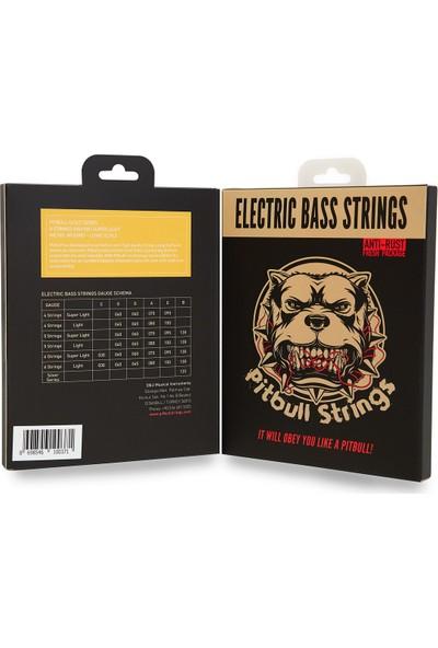 Pitbull Strings Gold Series Geb-4 Sl Super Light Takım Tel Bas Gitar Teli 040-095